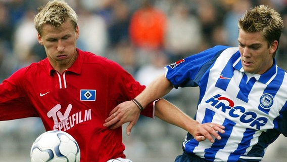 Ex-HSV-Profi Marek Heinz (l.) © picture-alliance