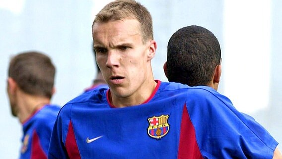 Robert Enke im Trikot des FC Barcelona © picture-alliance
