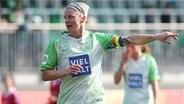 Kapitänin Nilla Fischer vom Frauenfußball-Bundesligisten VfL Wolfsburg © imago/Hübner Foto: Hübner