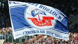 Fahne des FC Hansa Rostock; Rechte: dpa