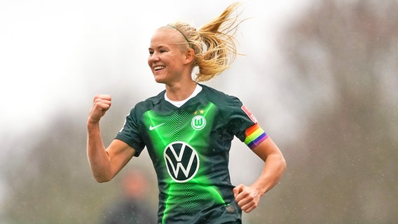 Stürmerin Pernille Harder vom Frauenfußball-Bundesligisten VfL Wolfsburg © imago images / Sports Press Photo