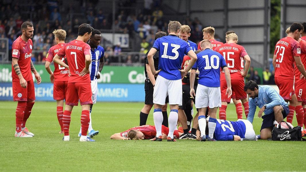 Holstein Kiel verliert, Dehm schwer verletzt