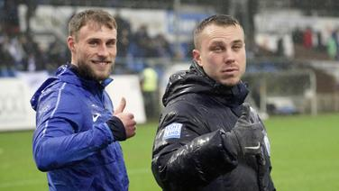 Max Wegner (l.) und Nico Granatowski vom SV Meppen