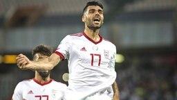 Jubel beim iranischen Nationalspieler Mehdi Taremi