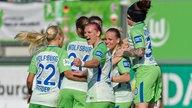 Jubel bei den Frauen des VfL Wolfsburg