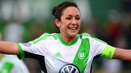 Wolfsburgs Nadine Keßler © dpa Foto: Peter Steffen