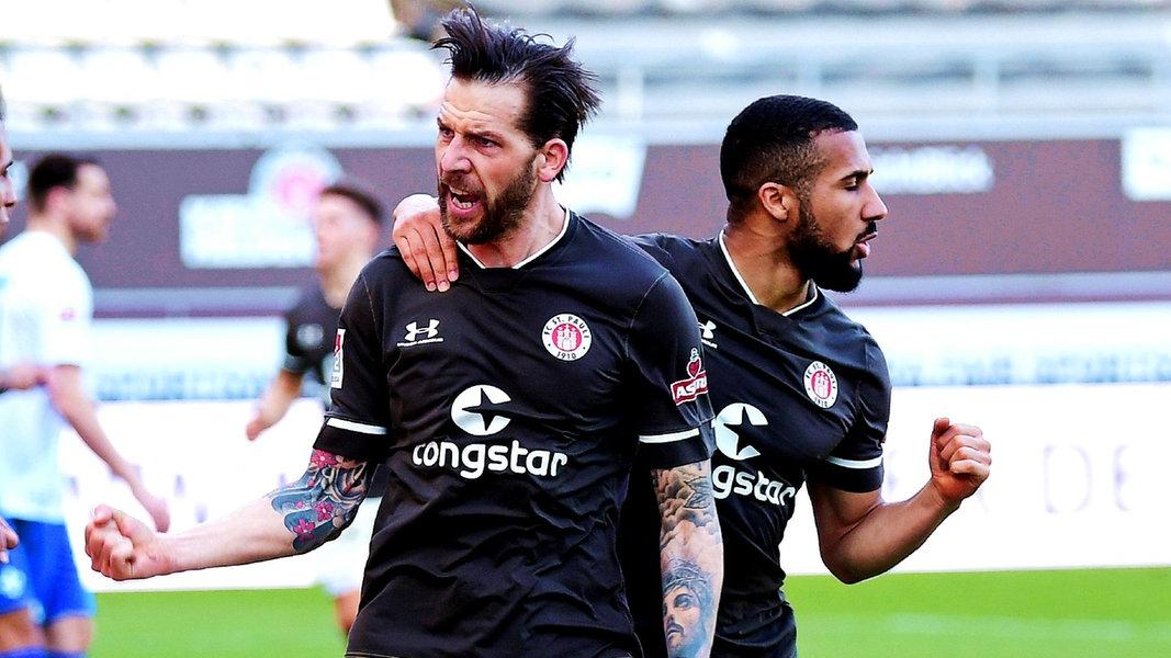 3:2 - St. Pauli gewinnt spektakuläres Spiel gegen Darmstadt - NDR.de