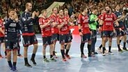 Jubel bei den Handballern der SG Flensburg-Handewitt © imago images / Beautiful Sports