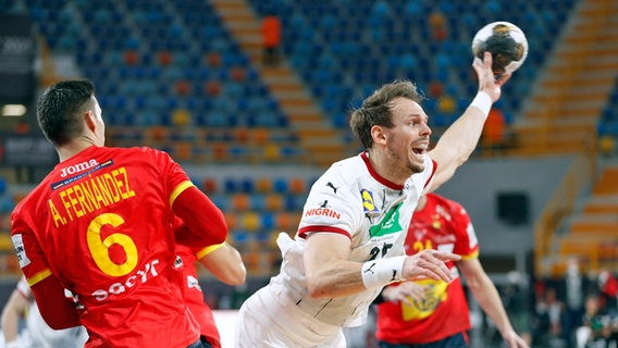 Der deutsche Handball-Nationalspieler Kai Häfner bei der WM © picture alliance/Associated Press Foto: Petr David Josek
