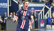 Der norwegische Handball-Nationalspieler Sander Sagosen im Trikot von Paris Saint-Germain © imago images / PanoramiC