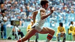 Alberto Juantorena errang beim 800-m-Lauf und auch über 400 m die Goldmedaille bei den Olympischen Sommerspielen von Montreal. © picture-alliance / dpa
