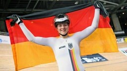 Lea Friedrich aus Dassow bei der Bahnrad-WM in Berlin