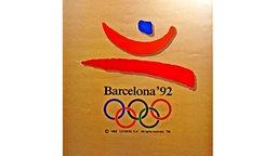 Plakat der Olympischen Spiele von 1992 in Barcelona © picture-alliance / ASA