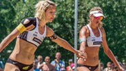 Das Beachvolleyball-Duo Laura Ludwig (l.) und Margareta Kozuch aus Hamburg © imago/Beautiful Sports