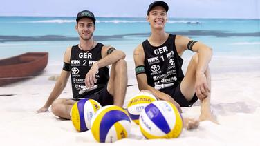 Das Beachvolleyball-Duo Clemens Wickler (l.) und Julius Thole © imago images / Agentur 54 Grad