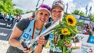Das Beachvolleyballduo Karla Borger (l.) und Julia Sude © imago images / Beautiful Sports