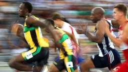 Sprinter Usain Bolt (l.) © picture-alliance