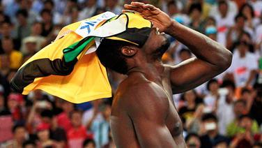 Sprinter Usain Bolt ist enttäuscht. © dpa Foto: Diego Azubel