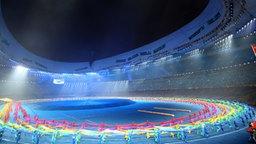 Die Eröffnungsfeier der Paralympics 2008 in Peking. © dpa-Bildfunk