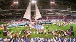 WM-Eröffnungsfeier 1995 im Ullevi-Stadion von Göteborg © Picture-Alliance/dpa