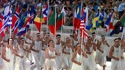 Fahnenträger WM-Eröffnungsfeier 1997 in Athen © Picture Alliance/dpa