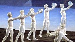 Show zur Eröffnungsfeier der olympischen Spiele in Athen 2004 © picture-alliance / dpa/dpaweb