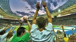 Fans im Berliner Olympiastadion © sportschau.de/berlin Fotograf: Thomas Luerweg