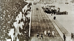 100-m-Finale in Athen 1896. © picture-alliance / ASA