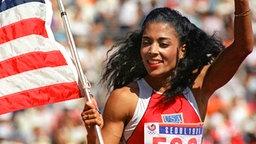 Die amerikanische Sprinterin Florence Griffith-Joyner © picture-alliance / dpa