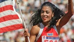 Sprint-Weltrekordlerin Florence Griffith-Joyner © Picture-Alliance/dpa