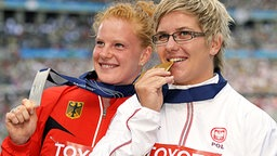 Hammerwurf-Rivalinnen Betty Heidler (li.) und Anita Wlodarczyk © picture-alliance/ dpa Foto: Hannibal