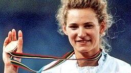 Heike Henkel bei den Olympischen Spielen 1992 © Picture Alliance/dpa