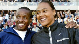 Tim Montgomery und Marion Jones © Picture Alliance/dpa