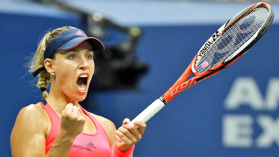 Angelique Kerber im Finale der US Open 2016 © picture-alliance Foto: Justin Lane