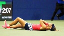 Angelique Kerber nach ihrem Sieg bei den US Open © picture-alliance Foto: Justin Lane