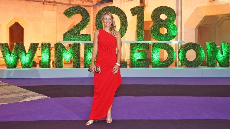 Angelique Kerber vor dem Champions Dinner von Wimbledon © picture alliance/empics