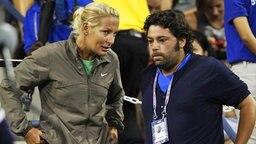 Tennis-Bundestrainerin Barbara Rittner und Benjamin Ebrahimzadeh, Coach von Angelique Kerber  © imago/Hasenkopf Foto: Hasenkopf