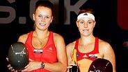 Tennis-Profi Angelique Kerber (r.) und Caroline Wozniacki © imago/Paul Zimmer Fotograf: Paul Zimmer