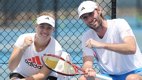 Angelique Kerber mit Trainer Torben Beltz © picture alliance Foto: Matt Roberts