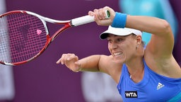 Angelique Kerber beim WTA-Turnier in Doha © picture alliance / dpa