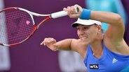 Angelique Kerber beim WTA-Turnier in Doha © picture alliance / dpa