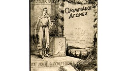 Plakat zu den vom 6. - 15. April 1896 in Athen stattfindenden ersten Olympischen Spielen der Neuzeit © picture-alliance / dpa