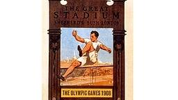 Das offizielle Plakat zu den Olympischen Spielen 1908 in London © picture-alliance / dpa