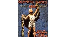 Das offizielle Plakat zu den X. Olympischen Spielen vom 30. Juli bis 14. August 1932 in Los Angeles © picture-alliance / dpa