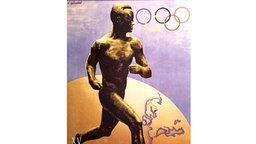 Plakat der Olympischen Spiele von 1952 in Helsinki © picture-alliance / ASA
