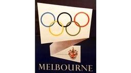 Plakat der Olympischen Spiele von 1956 in Melbourne © picture-alliance / ASA