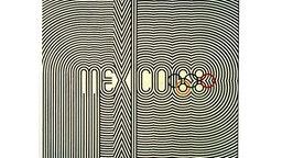 An ein genaueres Hinschauen erforderndes Vexierbild erinnert dieses Plakat zu den XIX. Olympischen Spielen, die vom 12. bis zum 27. Oktober 1968 in Mexiko-Stadt ausgetragen werden. © picture-alliance / dpa
