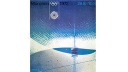 Das Plakat für die Olympischen Spiele vom 26. August bis zum 11. September 1972 in München © picture-alliance / dpa