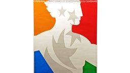 Plakat der Olympischen Spiele von 1996 in Atlanta © picture-alliance / ASA