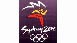 Plakat der Olympischen Spiele von 2000 in Sydney © picture-alliance / ASA
